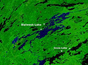 Sipiwesk Lake - Sipiwesk Lake north of Lake Winnipeg