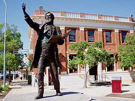 Sir Henry Parkes statue in Parkes NSW