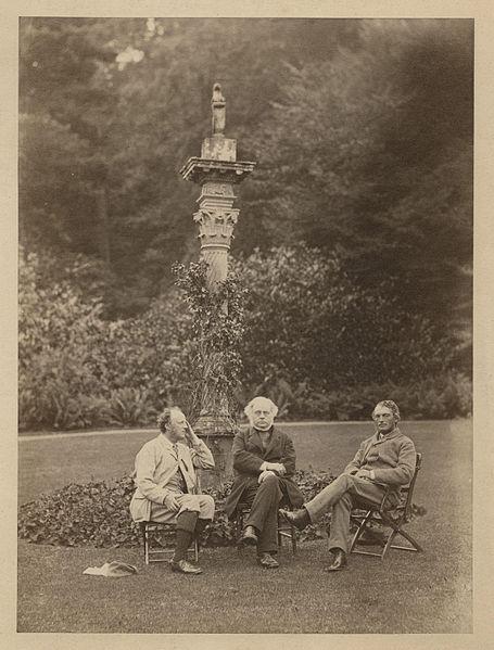 File:Sir John Everett Millais, 1st Bt; John Bright; Henry James, 1st Baron James of Hereford by Rupert Potter.jpg