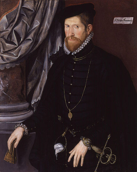 Sir Nicholas Throckmorton, by unknown artist, circa 1562, National Portrait Gallery, London. NPG 3800 Sir Nicholas Throckmorton from NPG.jpg