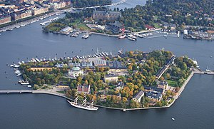 Skeppsholmen - Aerial photo of Skeppsholmen, September 2012.