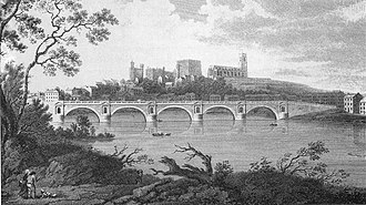 Thomas Harrison (architect) - Engraving of Skerton Bridge by John Landseer, dated 1791