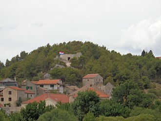 Skradin - Turina Fortress above the town