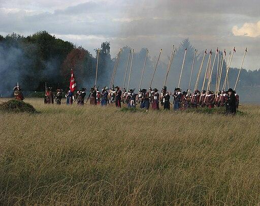 Slag om Grolle 2008-1 - Musketiers en piekeniers in formatie