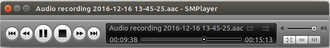 SMPlayer - Interface playing an audio file on Ubuntu 16.10