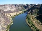 Snake River in de buurt van Twin Falls, Idaho