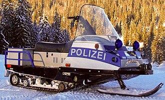 Baden-Württemberg Police - Image: Snowmobil polizei