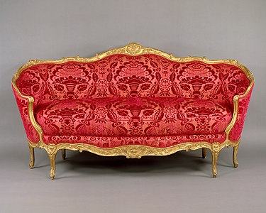 An Ottomane Sofa 1750 60 By Jean Baptiste Tilliard In Oval Shape Example Of The Turquoise Or Turkish Style