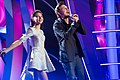 Sofia Tarasova and Dima Bilan at Christmas Song of the Year 2015.jpg