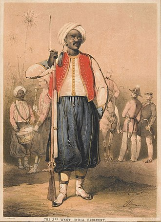 West India Regiments - Soldier of the 3rd West India Regiment, 1863