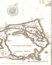 Somers Isles Map by John Speed 1676 - Parish of St George