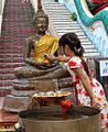 Songkran cleaning-of-Buddha-figure 2013 IMG 5521.jpg