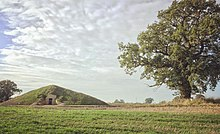 Soulton Long Barrow, an example of the modern barrows