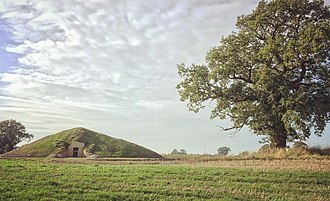 Soulton Long Barrow - The completed front of Soulton Long Barrow, autumn 2018