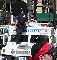 New York City Police Department Emergency Service Unit Hummer.