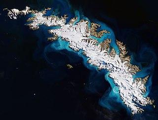 South Georgia Island in the South Atlantic