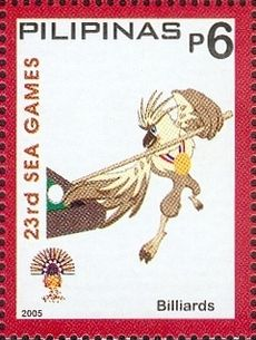 Southeast Asian Games 2005 stamp of the Philippines Billiards.jpg