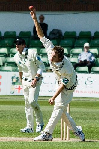 Cricket whites - New Zealand cricketers wearing cricket whites