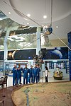 Soyuz TMA-20M crew and backup crew at the Korolev Museum in Baikonur.jpg