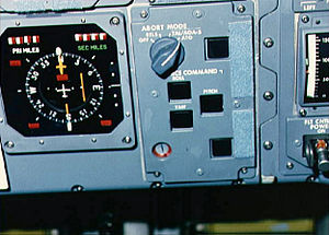 Space Shuttle abort modes - Abort panel on Space Shuttle ''Challenger''. Taken during STS-51-F with the switch on ATO mode