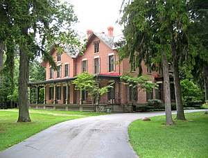 Fremont, Ohio - The Rutherford B. Hayes House at Spiegel Grove.