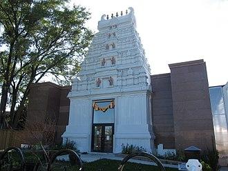 Sringeri Temple of Toronto - The main rajagopuram facade of the Sringeri Temple