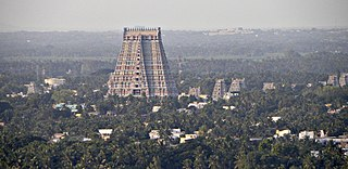 Srirangam Suburb in Tiruchirappalli, Tamil Nadu, India