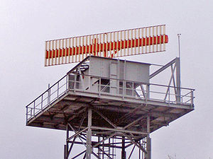 Secondary surveillance radar - SSR antenna of Deutsche Flugsicherung at Neubrandenburg, in Mecklenburg/Western Pomerania
