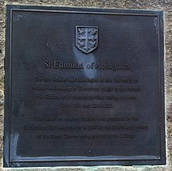 Photo of Edmund Rich bronze plaque