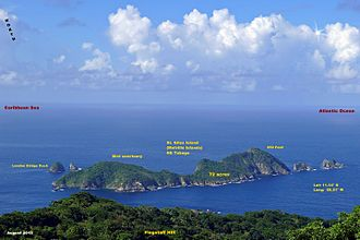 Saint Giles Island - St. Giles Island - Northernmost land area of Trinidad and Tobago, West Indies. Protected bird sanctuary. Scuba diving nearby.
