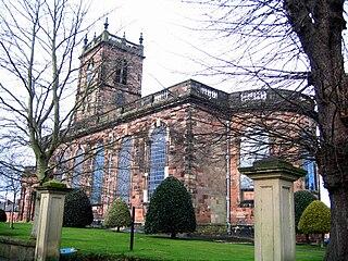 St Alkmunds Church, Whitchurch Church in Shropshire, England