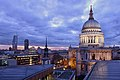 St Pauls Cathedral Dome at Sunset.jpg