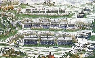 Battle of Szczekociny - Battle of Szczekociny, 1794, by Michał Stachowicz