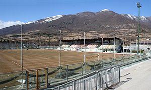 "A.S.D. Castel di Sangro Calcio - Stadium ""Teofilo Patini"", home grounds for Castel di Sangro Calcio"