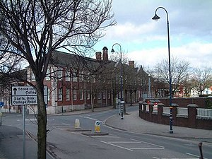 Staffordshire University - Staffordshire University, College Road, Stoke. The building shown is the former technical college, opened 1914