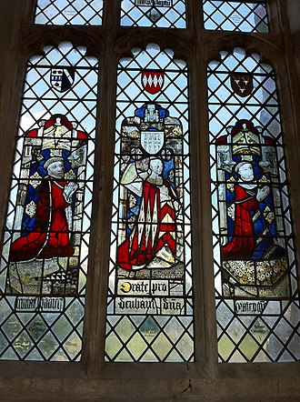 Holy Trinity Church, Long Melford - Medieval stained glass window, north aisle.