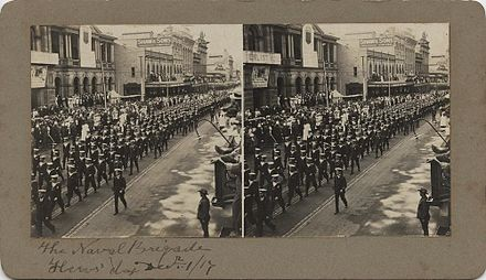 Naval parade through Brisbane on Heroes' Day, 1917 StateLibQld 1 251777 Naval parade through Brisbane on Hero's Day, 1917.jpg