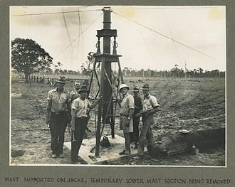 Bald Hills, Queensland - Preliminary supports for the radio transmitter mast at Bald Hills, 1942