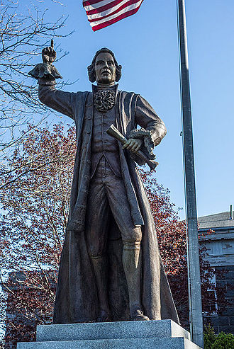 James Otis Jr. - Bronze sculpture of James Otis Jr. in front of the Barnstable County Courthouse