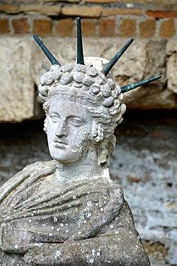 Statue of a reclining Attis at the Shrine of Attis 2.jpg