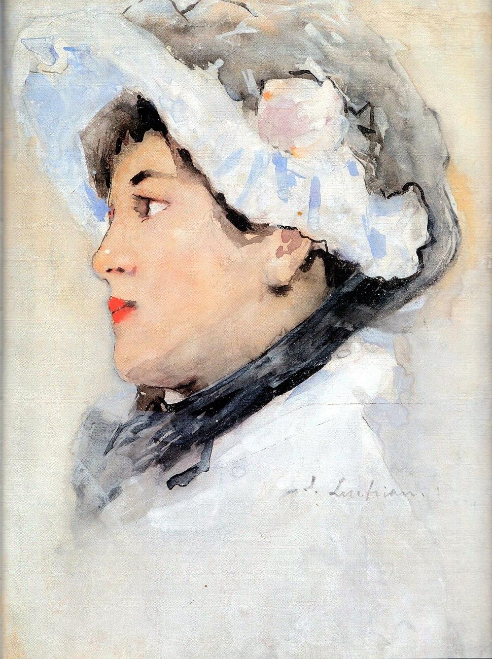 Stefan Luchian portrait of a woman