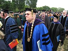 Stephen Joel Trachtenberg at final GWU commencement.jpg
