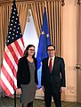 Steven Mnuchin and Cecilia Malmstrom at US Treasury.jpg