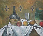 Still Life- Flask, Glass and Jug by Paul Cézanne, c. 1877.JPG