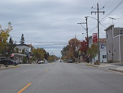 Along WIS 55 in downtown Stockbridge