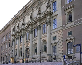 Slottsbacken - South façade of the Royal Palace.