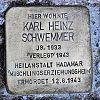 Stolperstein Gutenbergstr 20 Schwemmer Karl Heiz