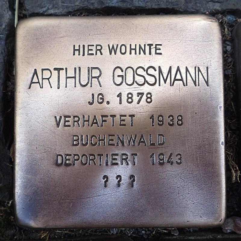Stolperstein für Arthur Gossmann