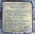 Stolperstein Freisinger Str 6 (Schön) Martha Gerechter.jpg