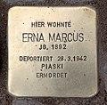 Stolperstein Hektorstr 16 (Halsee) Erna Marcus.jpg